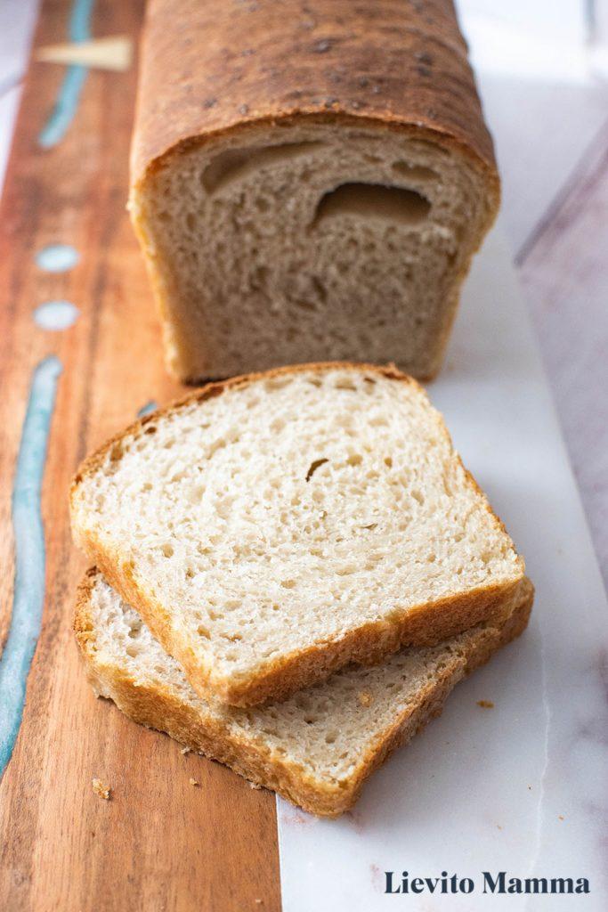 Sandwichbrot mit Lievito Madre - Ein Rezept von Lievito Mamma
