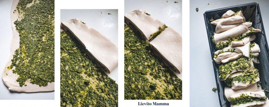 Lievito Madre Zupfbrot mit Pestofüllung - Ein Rezept von Lievito Mamma