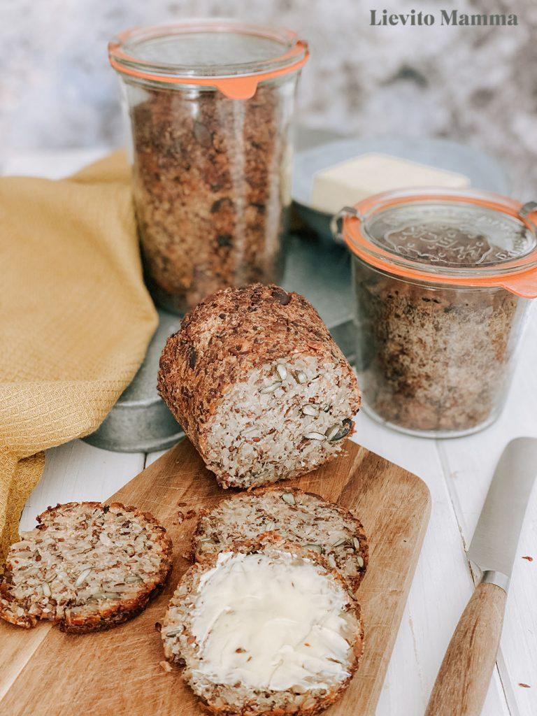 Brot ohne Mehl - Brot mit Lievito Madre im Weckglas